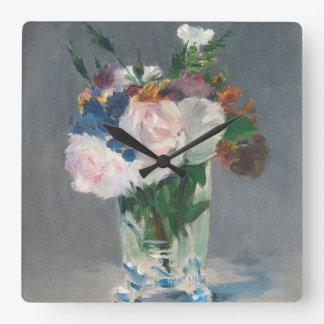Manet   Flowers in a Crystal Vase, c.1882 Square Wall Clock