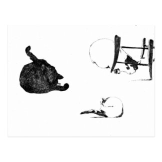 MANET: LES CHATS, 1869 POSTCARD