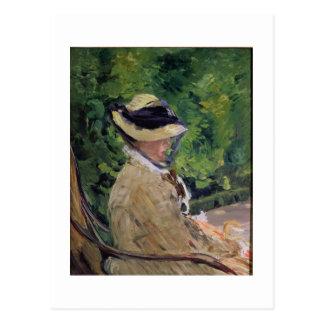Manet | Madame Manet at Bellevue Postcard
