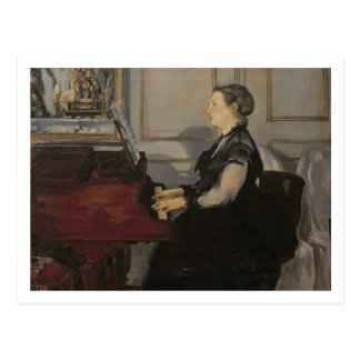 Manet | Madame Manet at the Piano, 1868 Postcard