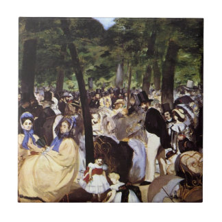 Manet: Music in the Tuileries Garden Tile