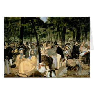 Manet | Music in the Tuileries Gardens, 1862 Card