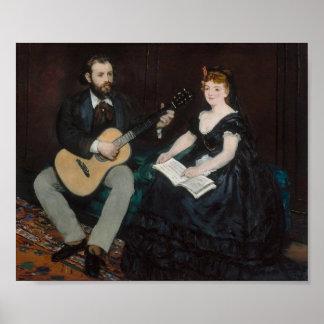 Manet, Music Lesson Poster