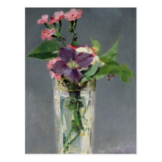Manet   Pinks and Clematis in a Crystal Vase, 1882 Postcard