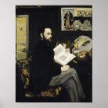 Manet   Portrait of Emile Zola  1868 Poster