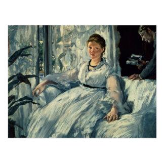 Manet | Reading, 1865 Postcard