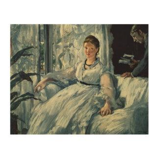 Manet | Reading, 1865 Wood Canvas