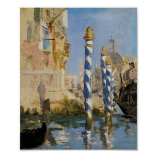 Manet, The Grand Canal, Venice Poster