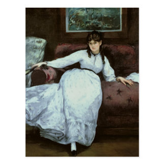 Manet | The Rest, portrait of Berthe Morisot Postcard