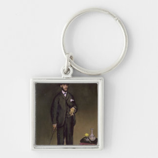 Manet | Theodore Duret Silver-Colored Square Keychain