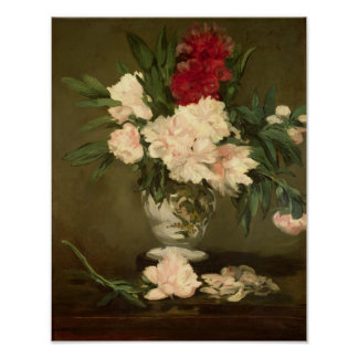 Manet | Vase of Peonies on a Small Pedestal, 1864 Poster