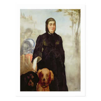 Manet | Woman With Dogs, 1858 Postcard