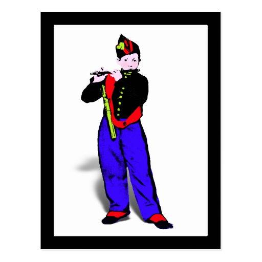 Manet's Little Flutist ala Postcard