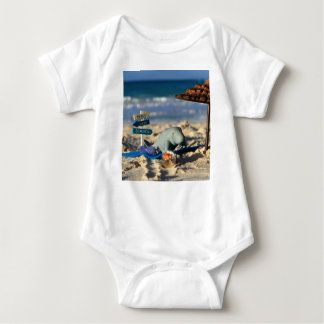 Manfred the Manatee at the Beach Baby Bodysuit