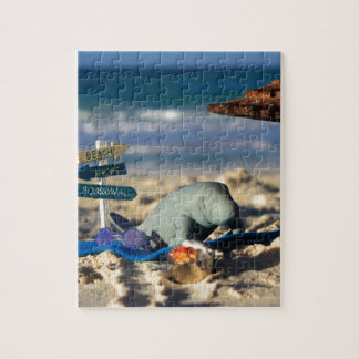 Manfred the Manatee at the Beach Jigsaw Puzzle