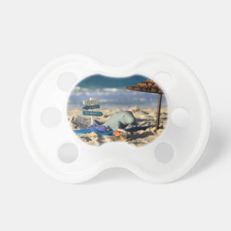 Manfred the Manatee at the Beach Pacifiers
