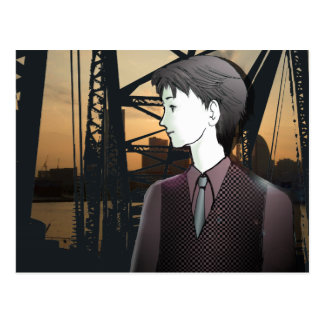 MANGA  boy YOKOHAMA Postcard