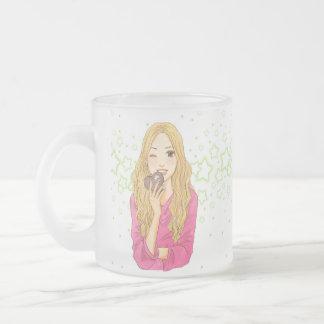 manga_chocolate frosted glass coffee mug