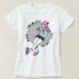 manga demon girl pink T-Shirt