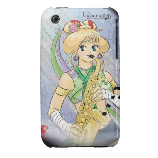 Manga little girl with saxophone Case-Mate iPhone 3 cases