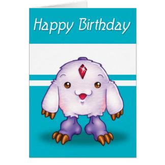 Manga Monster Happy Birthday Card