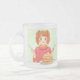 manga_pancakes frosted glass coffee mug