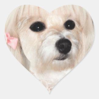 manga pooch heart sticker