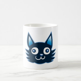 manga style weird cat funny cartoon coffee mug