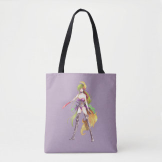 Manga Warrior Woman All-Over-Print Tote Bag