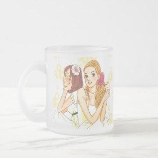 manga_wedding frosted glass coffee mug