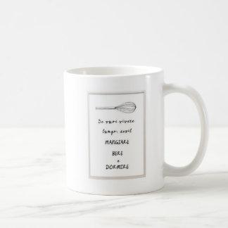 Mangare bere and dormire Italian phrase Mug