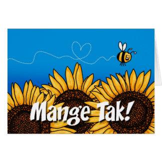 Mange Tak (Danish Thank you card) Card