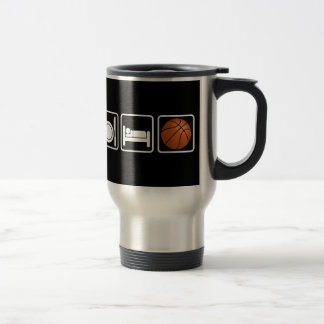 Mangez dormez basket-ball mug à café