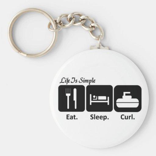 Mangez, dormez, courbez-vous porte-clef