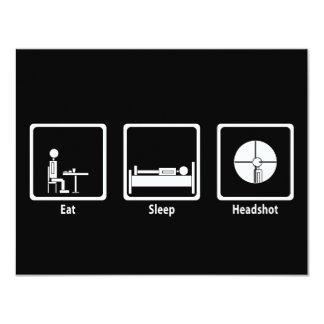 Mangez, dormez, Headshot - Gamer de FPS Carton D'invitation 10,79 Cm X 13,97 Cm