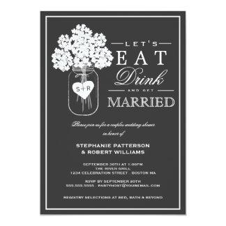 Mangez la boisson et recevez l'invitation de carton d'invitation  12,7 cm x 17,78 cm