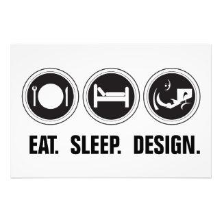 Mangez la conception de sommeil photos sur toile