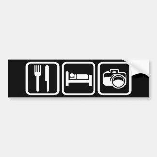 Mangez la photographie de sommeil autocollant de voiture