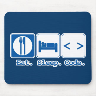 mangez le code de sommeil (le HTML) Tapis De Souris