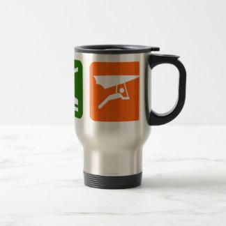 Mangez le glissement de coup de sommeil mug de voyage en acier inoxydable