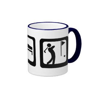 Mangez le golf de sommeil mug ringer