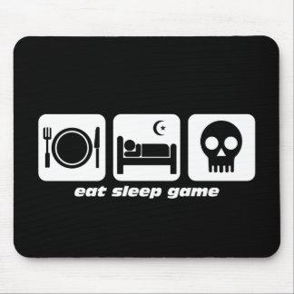 Mangez le jeu de sommeil tapis de souris
