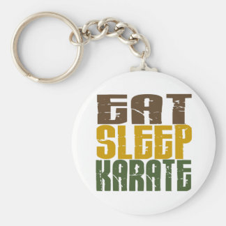 Mangez le karaté 1 de sommeil porte-clé rond