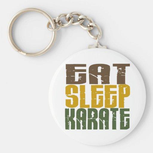 Mangez le karaté 1 de sommeil porte-clef