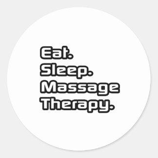 Mangez Sommeil Thérapie de massage Autocollants
