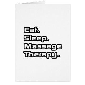 Mangez Sommeil Thérapie de massage Carte De Vœux