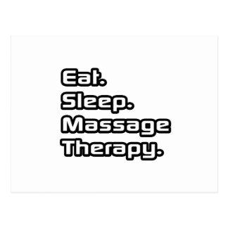 Mangez. Sommeil. Thérapie de massage Carte Postale
