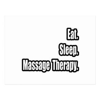 Mangez Sommeil Thérapie de massage Cartes Postales