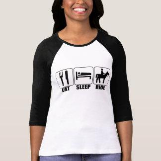 Mangez une douille de la coutume 3/4 des femmes de tee-shirts