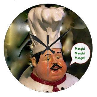 Mangia, Mangia, Mangia Kitchen Clock